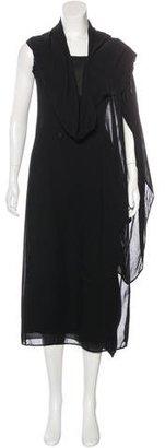 Yohji Yamamoto Draped Midi Dress $230 thestylecure.com