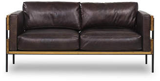 Thomas Laboratories Carson Loveseat - Antiqued Espresso Leather Bina