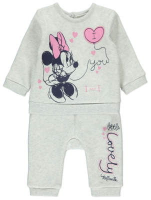 Disney George Minnie Mouse Sweatshirt and Joggers Outfit