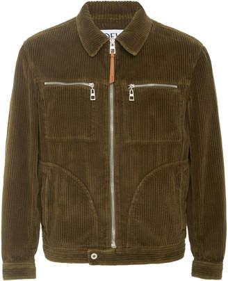 Loewe Zip Pocket Corduroy Jacket