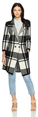 Pendleton Women's Block Plaid Merino Wool Coatigan Sweater
