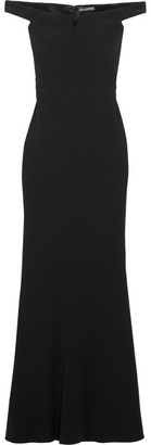 Alexander McQueen - Off-the-shoulder Crepe Gown - Black $3,175 thestylecure.com
