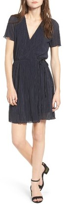 Women's Leith Pleat Surplice Wrap Dress $69 thestylecure.com