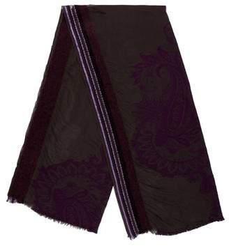 Etro Jacquard Wool & Silk-Blend Scarf