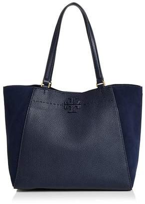 Tory Burch McGraw Medium Suede & Leather Tote
