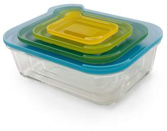 Joseph Joseph Multi-Coloured Glass 'Nest ' 4 Piece Food Storage Set