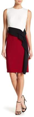BOSS Disalana Sleeveless Colorblock Ruffle Dress