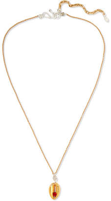 Swarovski WALD Berlin - Just A Friend Gold-plated, Crystal And Pearl Necklace
