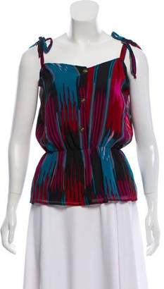 Myne Sleeveless Silk Top