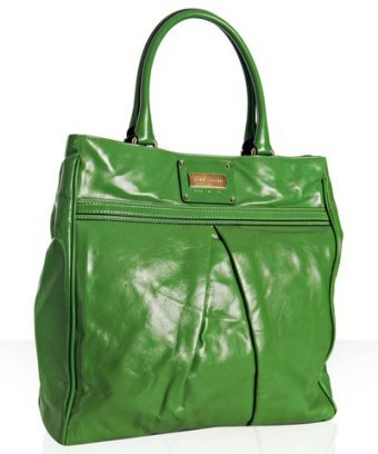 Marc Jacobs kelly green leather pleated 'Kristen' tall tote