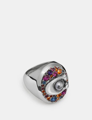 Coach Multicolor Signature Ring