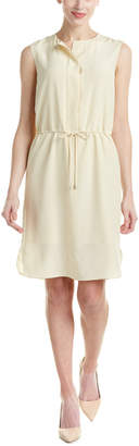 Magaschoni Silk Drawstring Dress