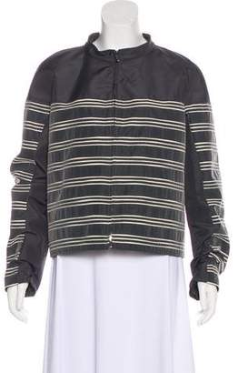 Armani Collezioni Striped Zip-Up Jacket
