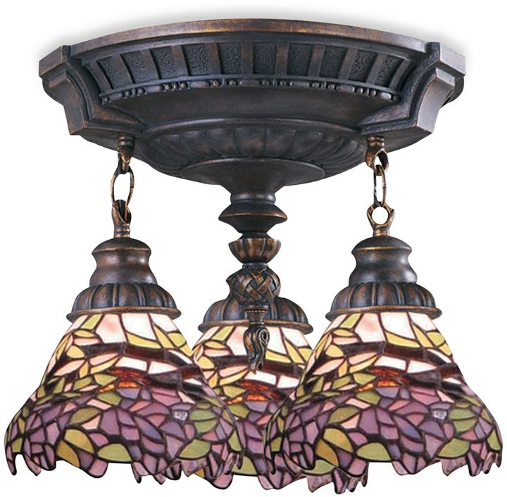 Bed Bath & Beyond ELK Lighting Mix-N-Match Collection 3-Light Semi-Flush Pendant in Lilac