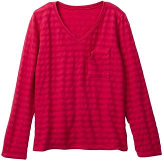 Couture Go V-Neck Stripe Pocket Tee (Little Girls & Big Girls)
