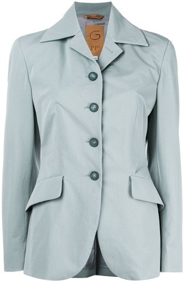 Romeo Gigli Pre-Owned belted slim-fit blazer