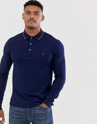 Lauren Long Sleeve Shopstyle Fit Ralph Uk Shirt Slim Polo fgv76YyIb