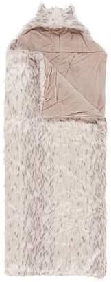 Pottery Barn Teen Fur Hooded Sleeping Bag, Snow Cat
