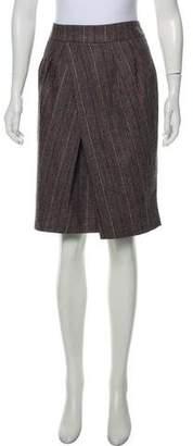 Etro Wool-Blend Plaid Skirt