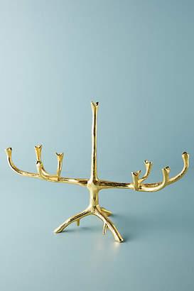 Anthropologie Gold Tree Branch Menorah