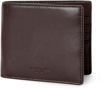 Michael Kors Brown Leather Odin Billfold Wallet