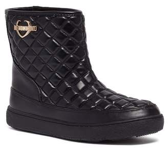 Love Moschino Faux Leather Quilted Ankle Boot