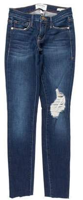 Frame Low-Rise Distressed Jeans