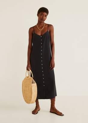 MANGO Spaghetti strap dress black - 4 - Women