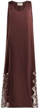 Icons Art Violet silk maxi dress