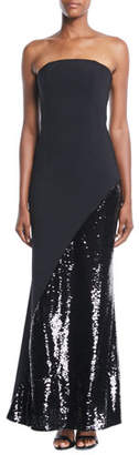 Sachin + Babi Chere Strapless Gown w/ Sequin Skirt