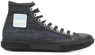Prada hi-top logo sneakers