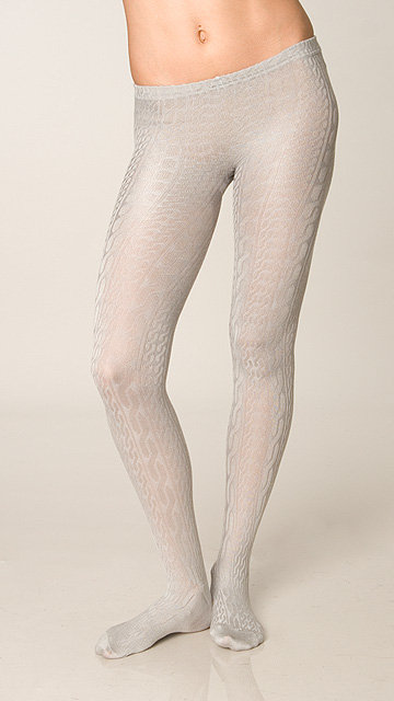 Juicy Couture Grey Cable Knit Tights