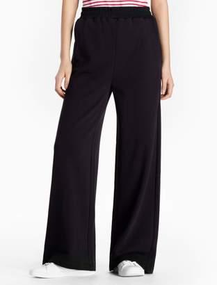 Calvin Klein cotton knit wide leg pants