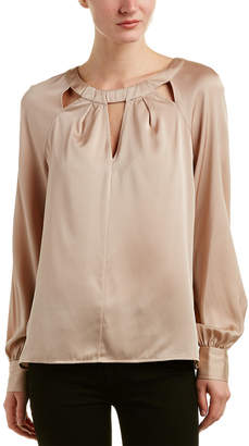Trina Turk Maritsa Silk-Blend Top