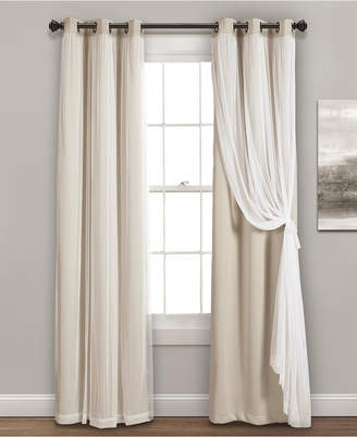 "Lush Decor 84""x38"" Grommet Sheer Panels with Insulated Blackout Lining"