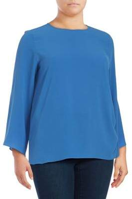 Vince Camuto Plus Bell-Sleeve Top