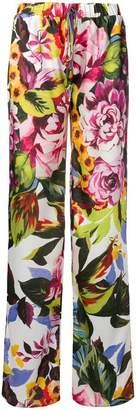Blugirl floral wide leg trousers