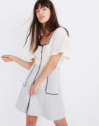 99436653b03 Madewell x The New Denim Project Patchwork Square-Neck Dress