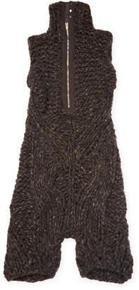 Rick Owens Crochet Stand Collar Jumpsuit