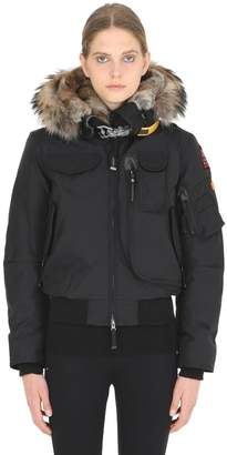 Parajumpers Gobi Down Bomber Jacket W/ Fur