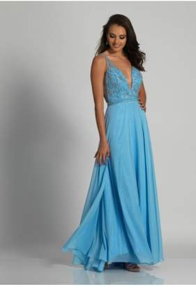 Dave and Johnny Classic Blue Gown