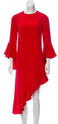 Alexis Ruffle-Trimmed Long Sleeve Dress
