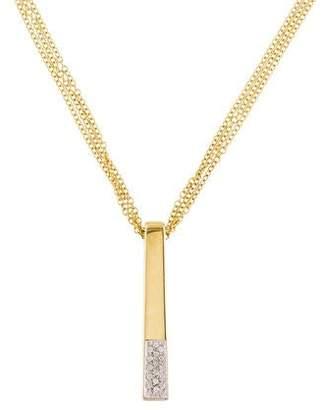 18K Diamond Bar Pendant Necklace