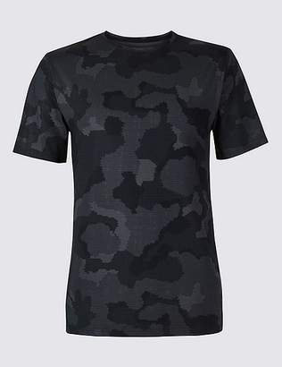 Marks and Spencer Active Printed Crew Neck T-Shirt