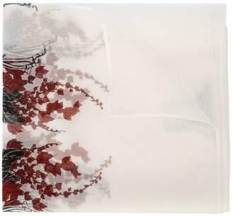 Thomas Wylde skeleton floral print scarf