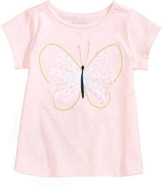 First Impressions Graphic-Print T-Cotton Shirt, Baby Girls, Created for Macy's