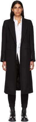 Ann Demeulemeester Black Side Clasp Coat