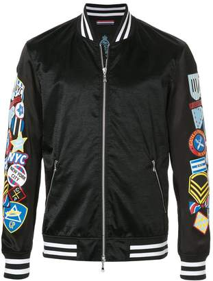 GUILD PRIME badge sleeve bomber jacket