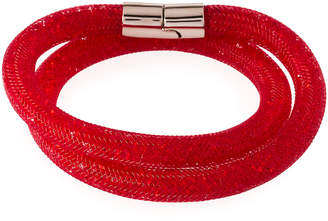 Swarovski Stardust Convertible Crystal Mesh Bracelet/Choker, Bright Red, Small