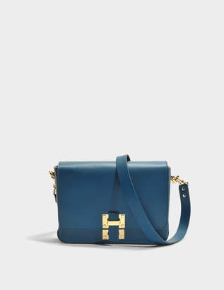Sophie Hulme The Quick Large Bag in Canard Cow Leather